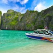 Speed boat in Thailand Beach — Stock Photo