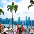 Swimming pool of the Marina Bay Sands — Stock Photo #32880745