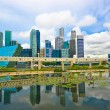 Singapore skyline reflect on water — Stock Photo