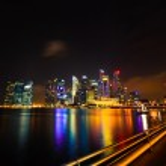 Singapore skyline at night — Stock Photo #32882429