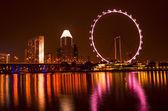 Skyline de singapur de noche — Foto de Stock