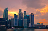 Singapore skyline shines — Stock Photo