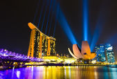 在新加坡滨海湾金沙酒店 — 图库照片