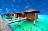 Water villa house in Maldives — Stock Photo