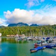 boats in langkawi island — Stock Photo