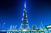 Dubai downtown and Burj Khalifa — Stock Photo
