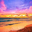 Sunset on beach — Stock Photo
