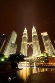 Petronas twin towers in kuala lumpur, maleisië — Stockfoto