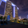 Marina Bay Sands in Singapore — Stok fotoğraf