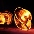 Orange Flames Fiery Motion — Stock Photo