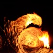 Stock Photo: Orange Flames Fiery Motion