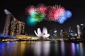 Arenas marina bay en singapur — Foto de Stock