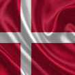 Denmark waving flag — Stockfoto