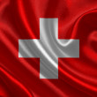 Switzerland waving flag — Stock Photo