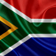 Waving South Africa flag — Foto Stock