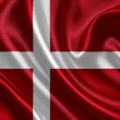 Denmark waving flag — Stock fotografie