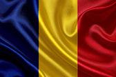 Romania waving flag — Stock Photo