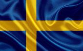 Sweden waving flag — Stock Photo