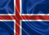 Waving flag of Iceland — Stock Photo