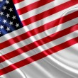 American flag on silk fabric — Stock Photo