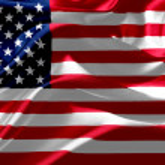 American flag on silk fabric — Stock Photo