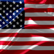 American flag on silk fabric — Stock Photo #36155579