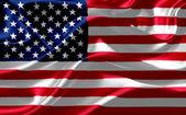 Amerikaanse vlag op zijde stof — Stockfoto