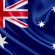 Australia waving flag — Stock Photo