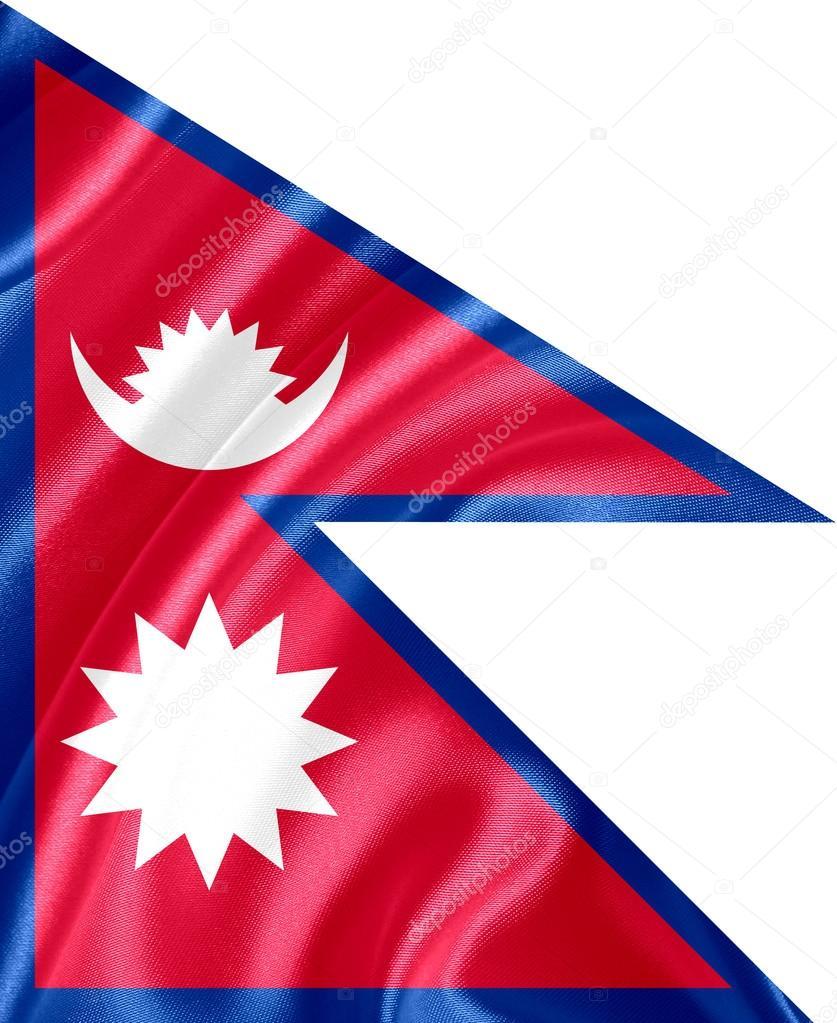 尼泊尔国旗– 图库图片