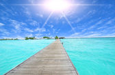 Amazing ocean view on tropical island — Stock Photo