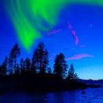 Nordlicht, Aurora borealis — Stockfoto