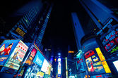 Times Square, featured with Broadway Theaters and LED signs — Stock Photo