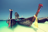 Traditional boat in the beach is one of main tourist attraction in Thailand — Stock Photo