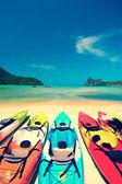 Kajak in wunderschönen Strand in thailand — Stockfoto