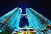 View of The Petronas Twin Towers. — Stock Photo