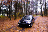 VIRGINIA, USA - OCTOBER 20, 2012: Photo of BMW 3 Series at skyline drive in Virginia, USA. — Stock Photo