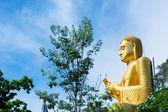 Golden Buddha statue in Dambulla temple Sri Lanka — Stok fotoğraf