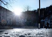 Staden i vinter — Stockfoto