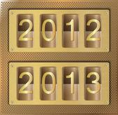 Gold website element number 2012 2013 — Stock Vector