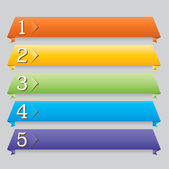 Origami web design banner for website — Stock Vector
