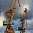 Dockside crane - Stock Photo