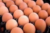 Eggs at market — Stock Photo