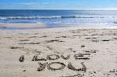 I love You on the beach — Stock Photo