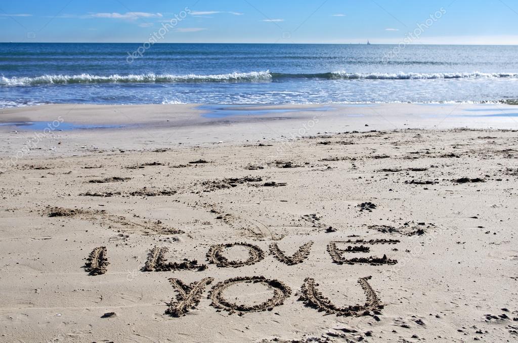 Ich liebe dich am Strand — Stockfoto #16793709