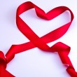 Stock Photo: Red ribbon of love