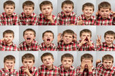 Playing with the child of a thousand faces — Stock Photo