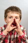 Child making ugly faces 19 — Stock Photo