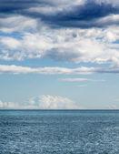 Fotografi av valencias kust med moln bakgrund — Stockfoto