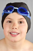 Swimmer face — Stock Photo