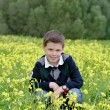 Child among flowers — Stock Photo #21005839